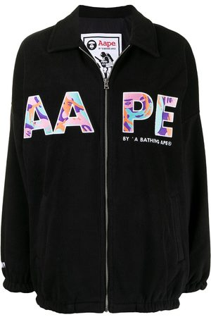 AAPE BY *A BATHING APE® Logo-embroidered bomber jacket