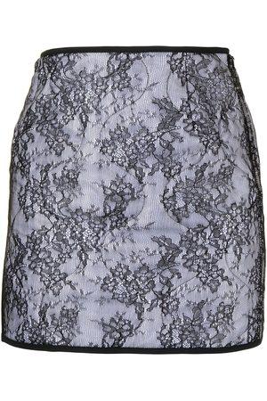 Nº21 Ženy Áčkové - Lace-overlay A-line skirt