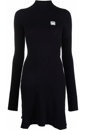 Palm Angels Logo patch knitted dress