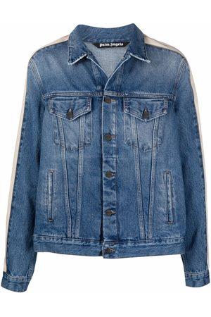 Palm Angels Muži Džínové bundy - Stripe-detail denim jacket