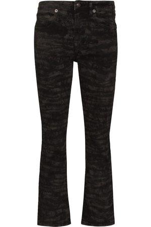 R13 Ženy Bootcut - Kick Fit zebra print bootcut jeans