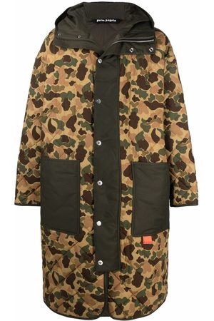 Palm Angels Muži Parky - Camouflage-print hooded coat