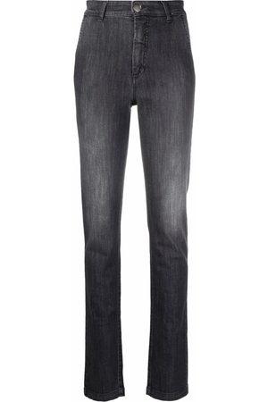 Federica Tosi Dark-wash slim-fit trousers