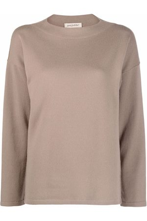 GENTRYPORTOFINO Drop-shoulder long-sleeved knitted top