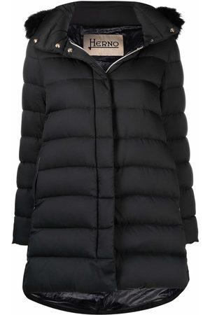 Herno Ženy Parky - Fur-trimmed hooded coat