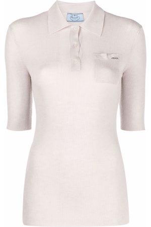 Prada Fine-knit polo top