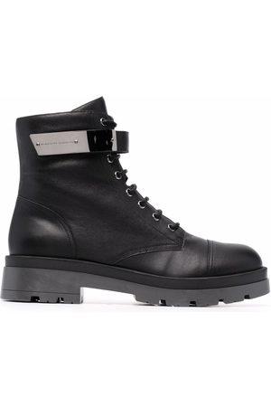 Giuseppe Zanotti Engraved-logo lace-up boots
