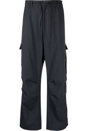 Y-3 Logo-patch straight-leg trousers