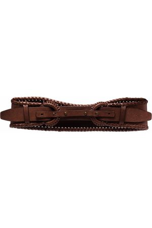 Gianfranco Ferré Pre-Owned 1990s double-buckled curved leather belt