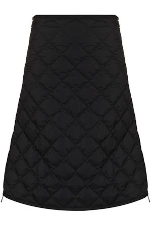 Moncler Quilted A-line skirt