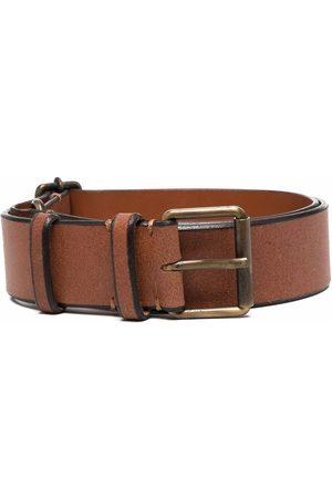 Gianfranco Ferré 1990s buckled leather belt