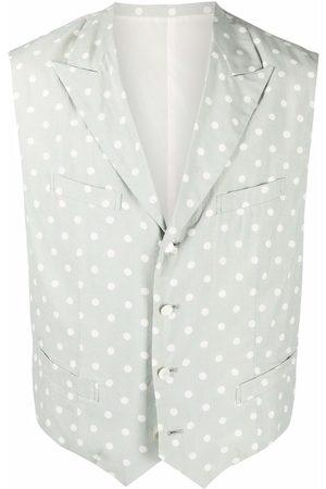Comme des Garçons Muži Vesty - 1990s polka dot single-breasted vest