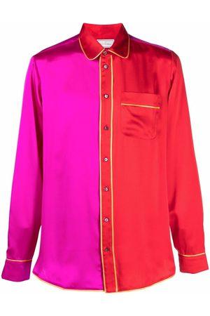 PIERRE-LOUIS MASCIA Two-tone panel shirt