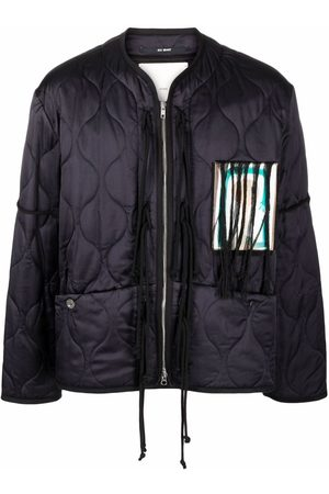 Song For The Mute Patch-detailed quilted jacket