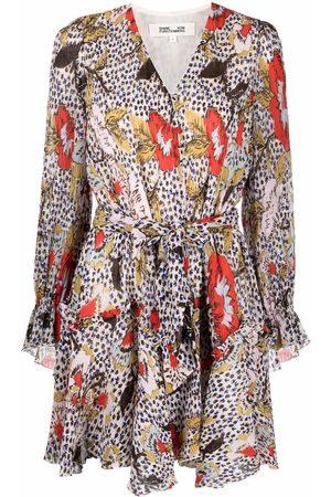 DVF Diane von Furstenberg Kacie floral leopard-print dress