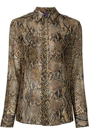 Ralph Lauren Collection Snakeskin print shirt