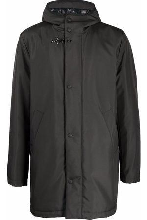 FAY Hooded long-sleeve raincoat