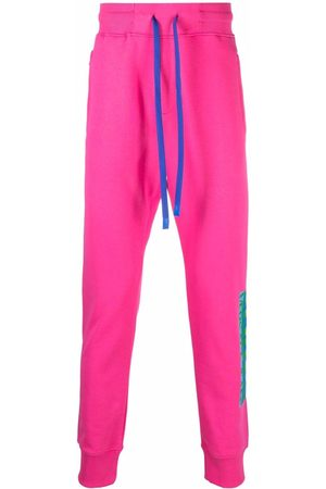 Versace Jeans Couture Log-print cotton track trousers