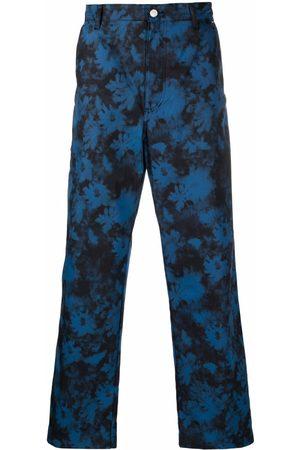 Kenzo Ghost Flower tie-dye straight-leg trousers