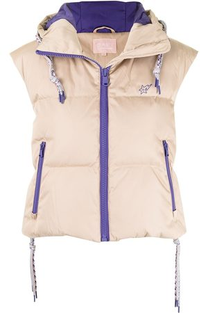 BAPY Padded zip-up down gilet