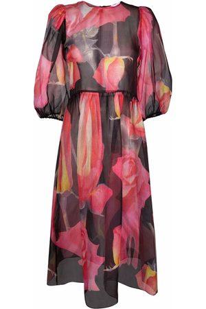 Soulland Ženy S potiskem - Gabi rose-print chiffon dress