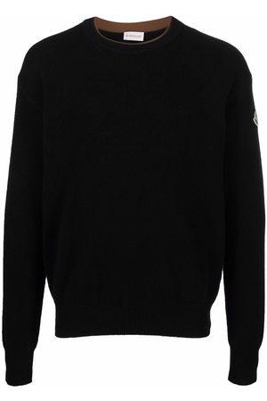 Moncler Muži S dlouhým rukávem - Logo-patch long-sleeve jumper