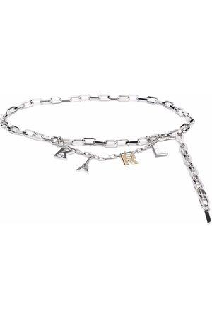 Karl Lagerfeld Ženy Pásky - Letter-charm chain belt