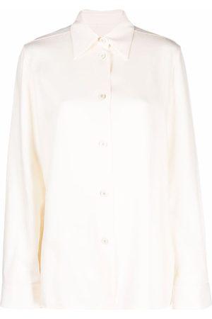 Jil Sander Ženy Košile - Pointed-collar button-front shirt