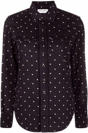 Saint Laurent Polka-dot print shirt