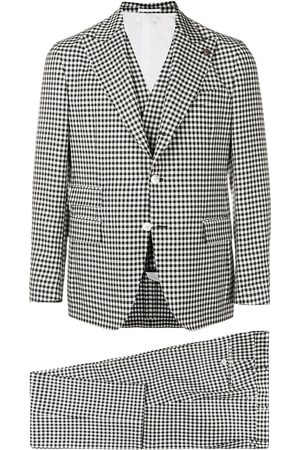 GABRIELE PASINI Muži Obleky - Check three-piece formal suit