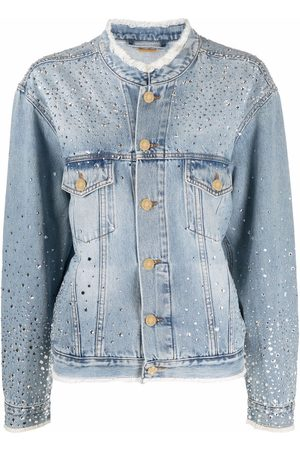 ALEXANDRE VAUTHIER Crystal-embellished denim jacket