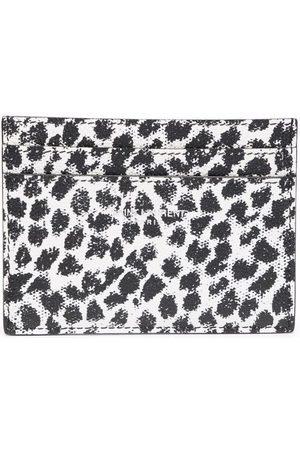 Saint Laurent Muži Peněženky - Leopard-print leather cardholder