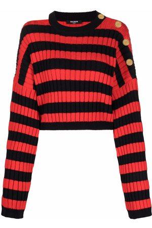 Balmain Ženy S dlouhým rukávem - Horizontal-stripe pattern long-sleeve jumper