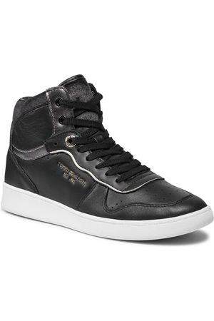 Tommy Hilfiger Black Elevated Mid Court Sneaker FW0FW06018