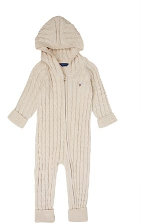 Gant Dupačky - Body Cotton Cable Zip Coverall