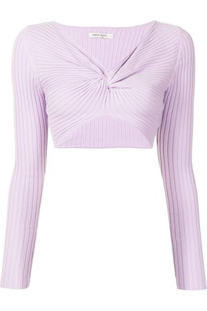 Anna Quan Pascale ribbed-knit twisted top
