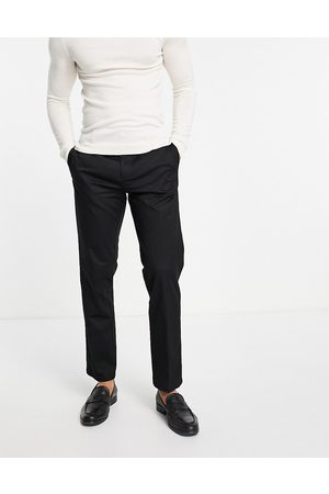 River Island Barrelled chinos in black