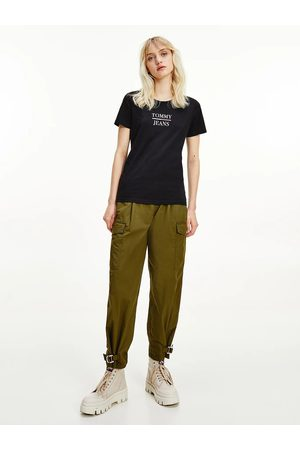 Tommy Jeans Ženy Trička - Dámské černé tričko