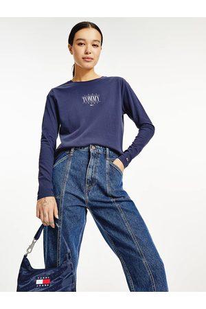 Tommy Jeans Ženy Trička - Dámské modré triko ESSENTIAL LOGO