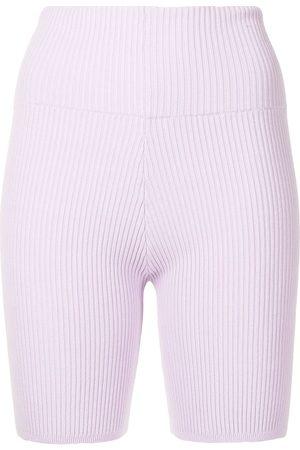 Anna Quan Bobby ribbed-knit biker shorts