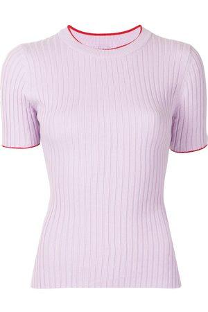 Anna Quan Bebe ribbed-knit cotton top
