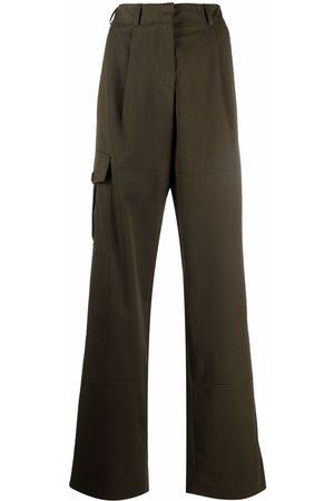 Nina Ricci Ženy Kapsáče - Wide-leg cargo trousers