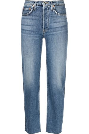 RE/DONE Stobe Pipe high-rise straight jeans