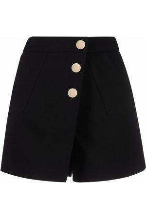 Maje Asymmetric button-up shorts