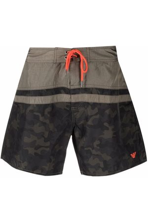 Emporio Armani Muži Šortky - Camouflage-print swim shorts