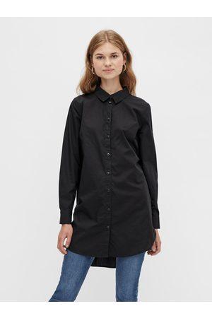 Pieces Černá dlouhá košile Noma