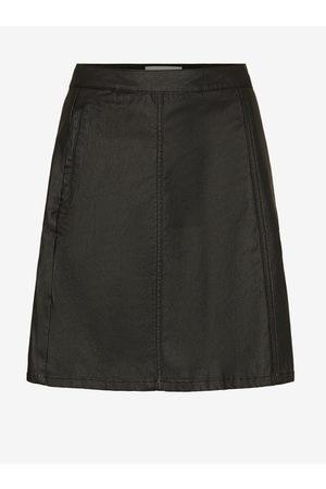 Noisy May Černá koženková sukně Peri