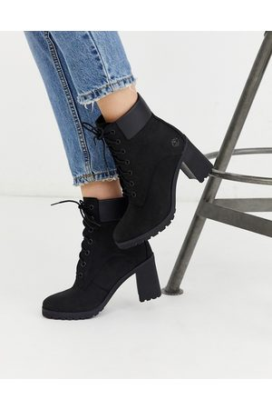 Timberland Allington 6 inch heeled boots in black
