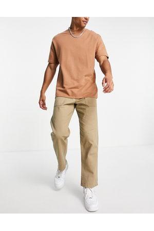 JACK & JONES Intelligence wide fit workwear chino in beige-Neutral