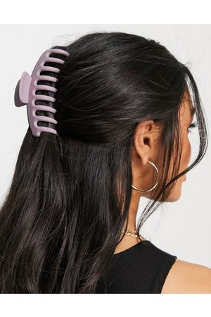 ASOS Hair claw in matte lilac-Pink